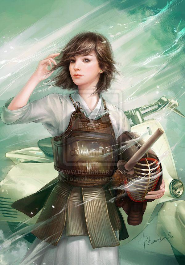 Love The Short Hair Kendo Girl By Phoenixlu Deviantart Com