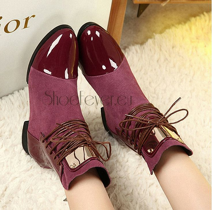 Burgundia super fine cut leather booties