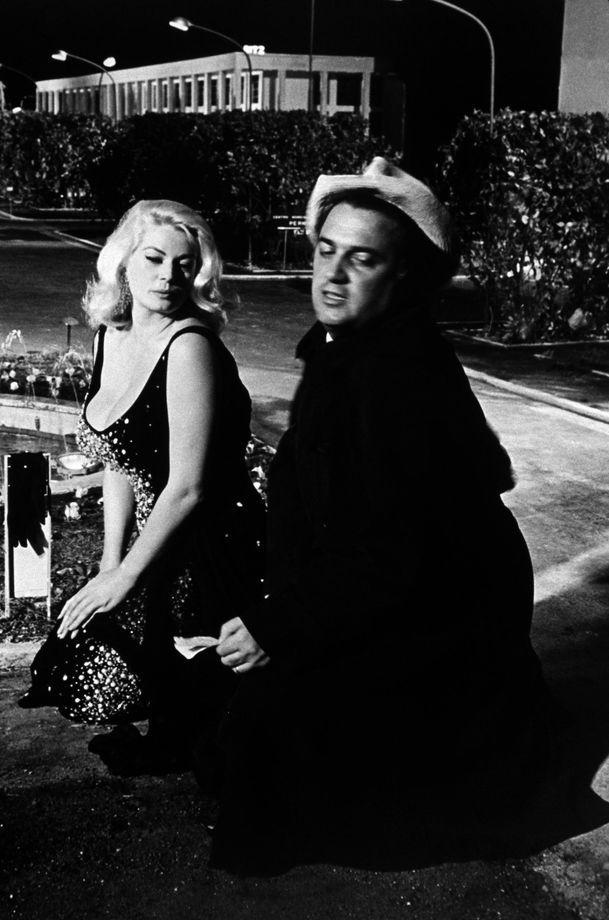 Federico Fellini and Anita Ekberg