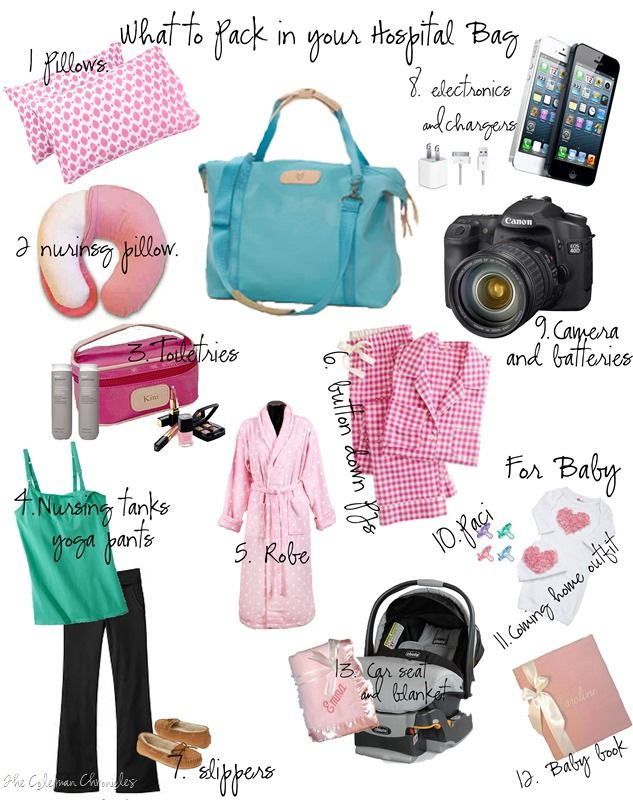 Best list!  What to pack in your hospital bag