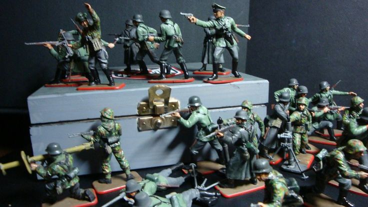 Painted Airfix And Italeri German Soldiers 1 32 Scale
