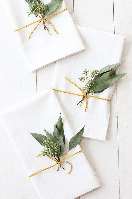 will make pretty eucalyptus gift wrap