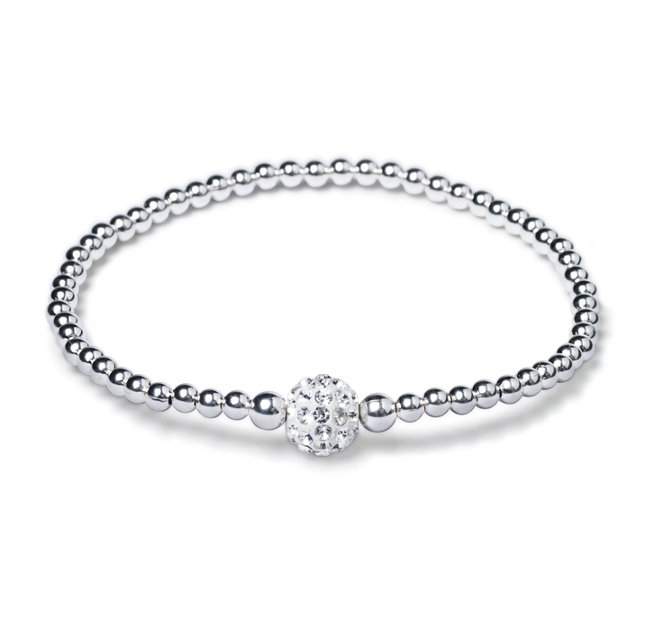 A little sterling silver bling to wear with your watch. $34