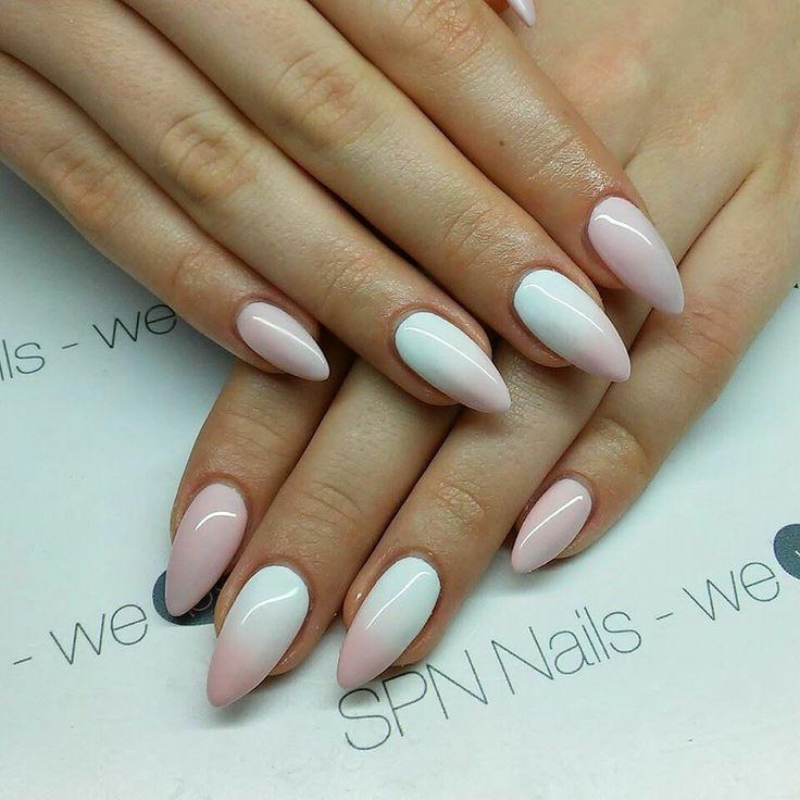 #Delicate #ombrenails... #Naildesign done using #SPNnailsUK UV LaQ #gelpolish 502 My wedding dress & 506 Rose French. #Nails by: Alicja Koziolek - AliceNails, #SPNnails Team