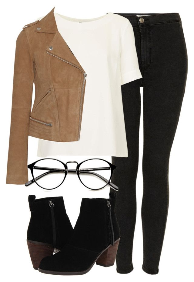 """""""Untitled #4254"""" by laurenmboot ❤ liked on Polyvore featuring Topshop, Maje and Dolce Vita"""