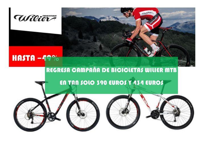 Oferta bicicletas Wilier MTB rebajadas hasta en 49%