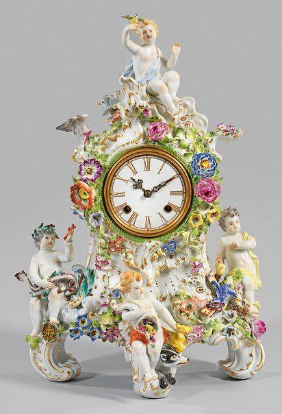 Часы в фарфоре. – 17 фотографий