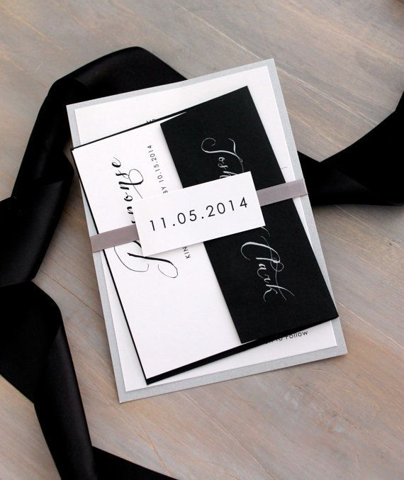 script wedding invitations elegant and modern wedding black tie wedding invitation new - Black Tie Wedding Invitations
