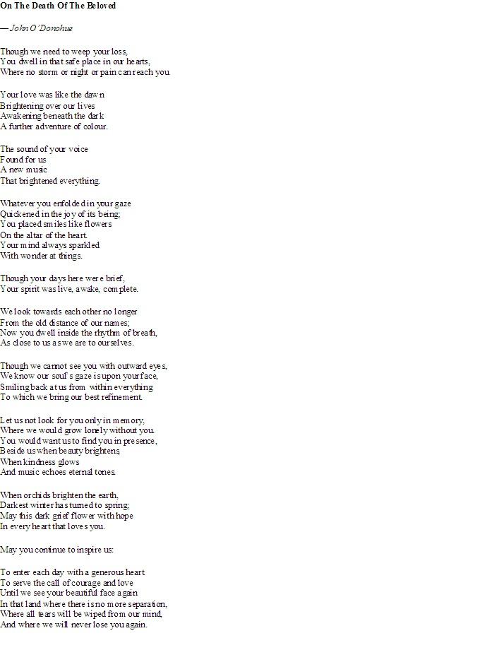 John O Donohue Poems 7