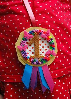 medaille met strijkparels