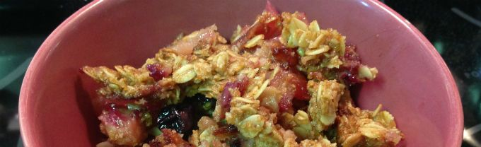 Vegan, gluten-free, refined sugar free Cinnamon Apple Crumble recipe