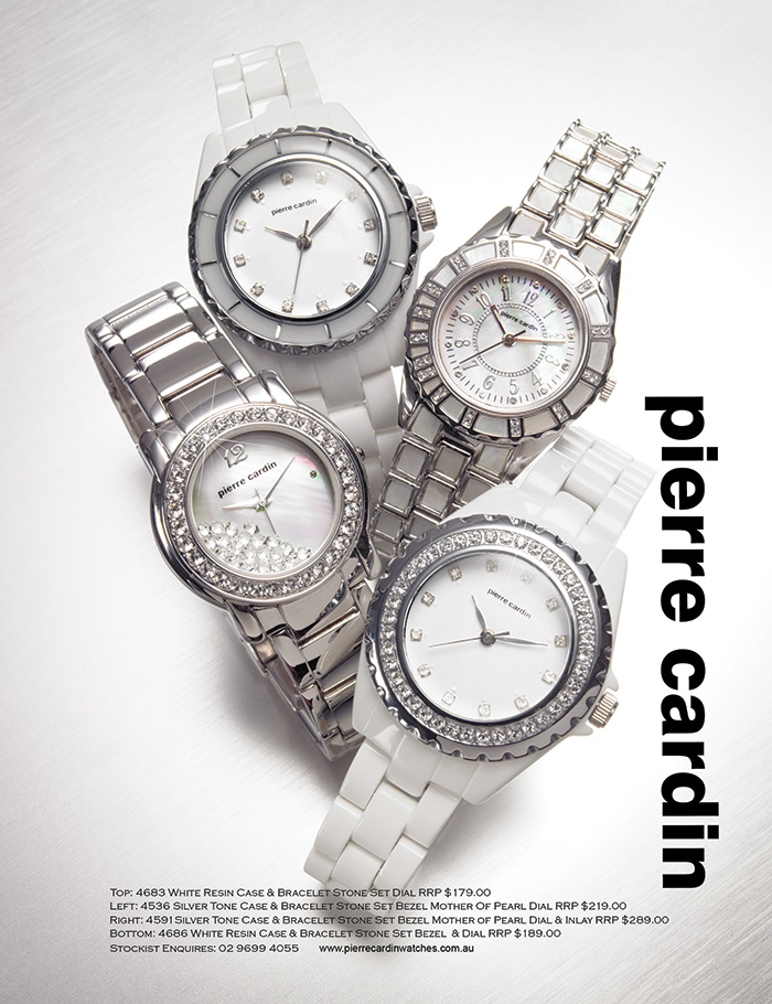 Wear these pierre cardin watches to add sparkle to your look with Swarovski crystal accents