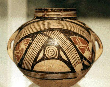 Vaso sferico da Dimini:Museo Nazionale di Atene Tarda età neolitica.