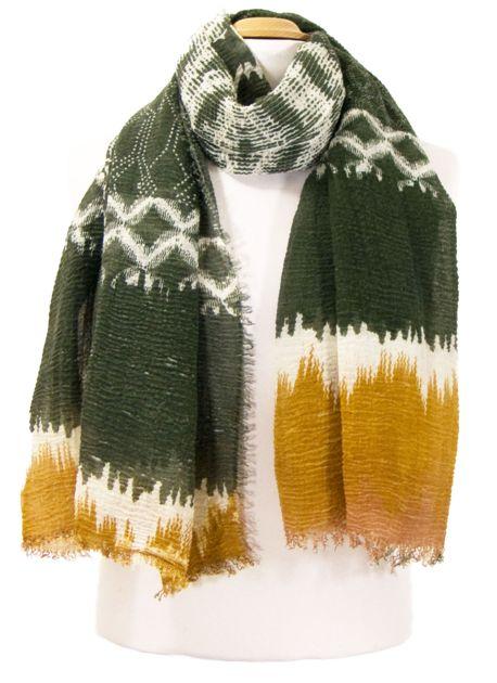 80ba61ace26 Foulard chèche kaki tie and dye. PROMO -20 % mesecharpes.com ...