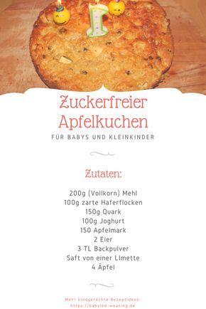 Der perfekte Kuchen zum ersten Geburtstag: Apfelkuchen ohne künstlichen Zuckerzusatz.