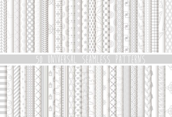 Check out 50 universal seamless pattern by Julia's Design on Creative Market