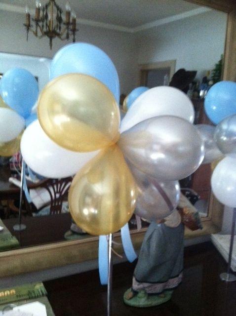 Balloon centerpiece stand parties that pop pinterest