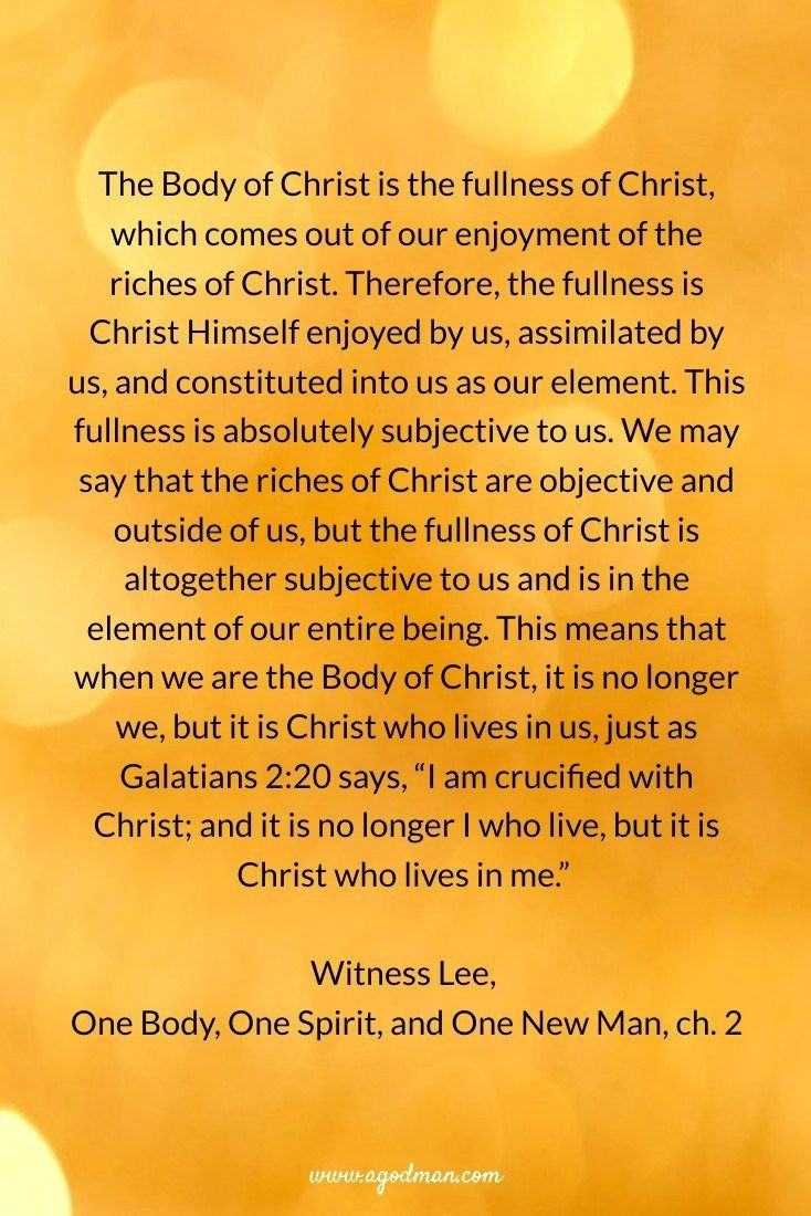 The Body of Christ, His Continuation, is the Fullness of Christ for