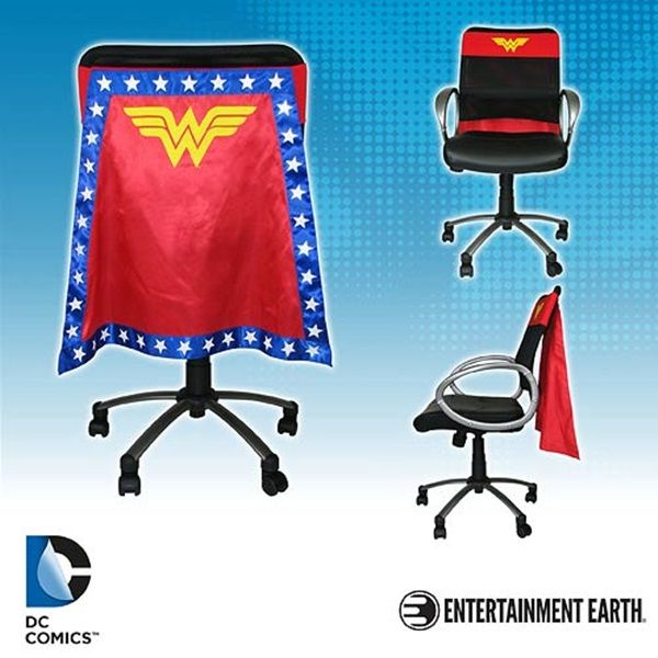 Wonder Woman And Batgirl Chair Capes For Office Heroes