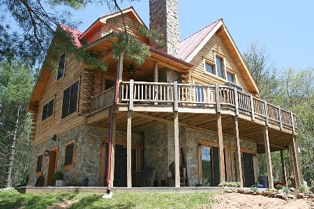 2 story cabin log home for the home pinterest