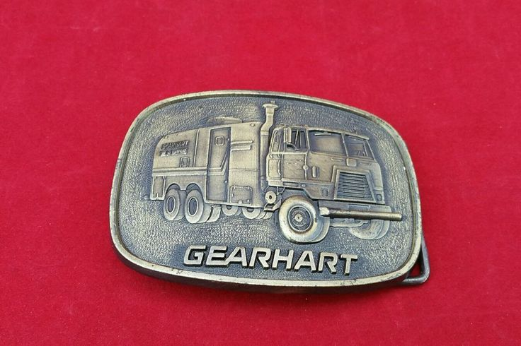 Gearhart Brass Belt Buckle Oil Field - Oil Well Company   Clothing, Shoes & Accessories, Vintage, Vintage Accessories   eBay!