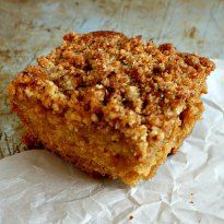 A tender vegan coffee cake with a crunchy cinnamon topping. Your family & friends will never suspect this cake is missing the eggs and butter.