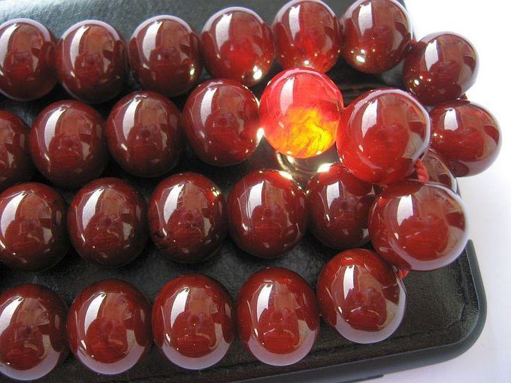 Ottoman Full Marble Cherry Amber Bakelite Faturan 33 Islam Prayer Beads Misbaha | eBay