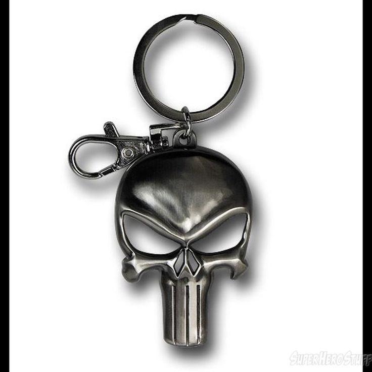 Images of Punisher Symbol Shiny Pewter Keychain