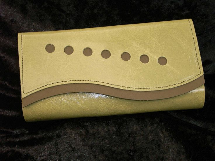 Green soft leather with 7 holes and green trim