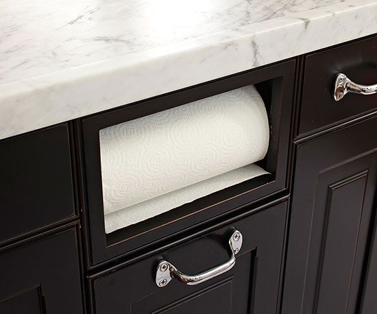 This under the counter paper towel roll is a must-have for my future kitchen remodel!