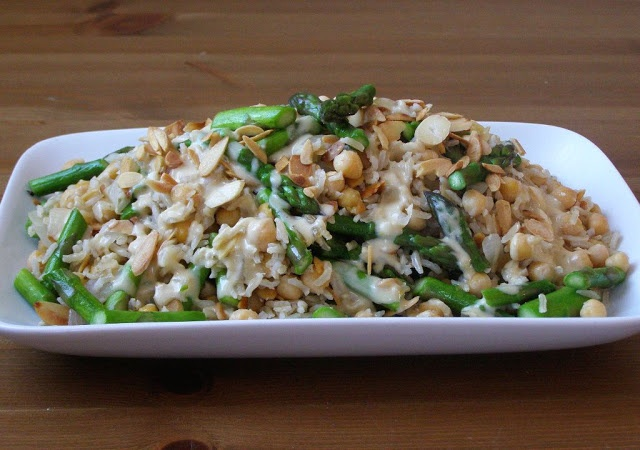 *Asparagus, Almond and Chickpea Brown Rice with a Lemon ...
