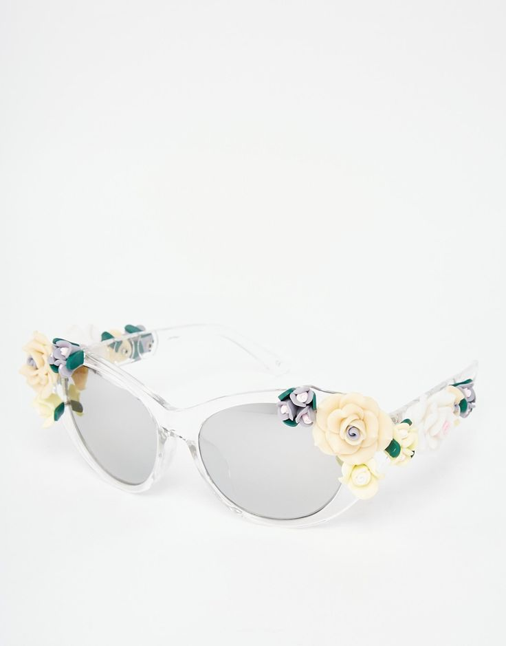 Image 1 of Jeepers Peepers Novelty Flower Cat Eye Sunglasses