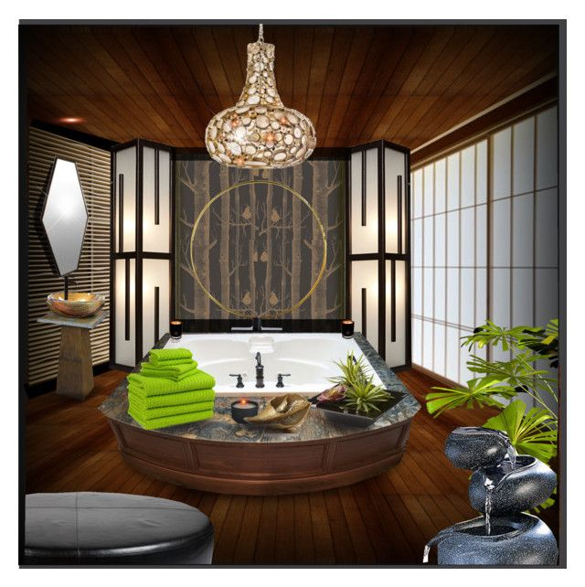 """Zen Bath"" By Constanceann Liked On Polyvore Featuring"