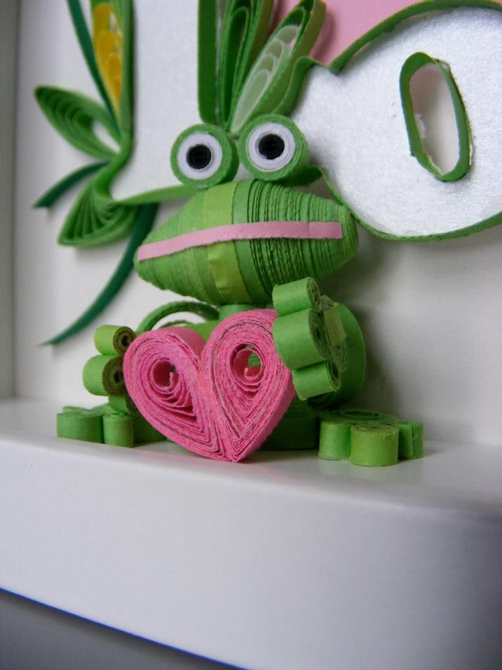 Frog Quilling 3D | quilling projects | Pinterest ...