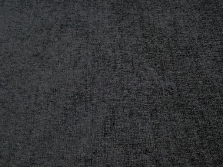 Willow Grey Plush Plain Chenille Upholstery / Curtain Material