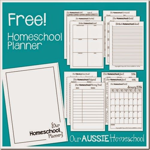 Free Homeschool Planner! ~ from Our Aussie Homeschool | Freedom ...