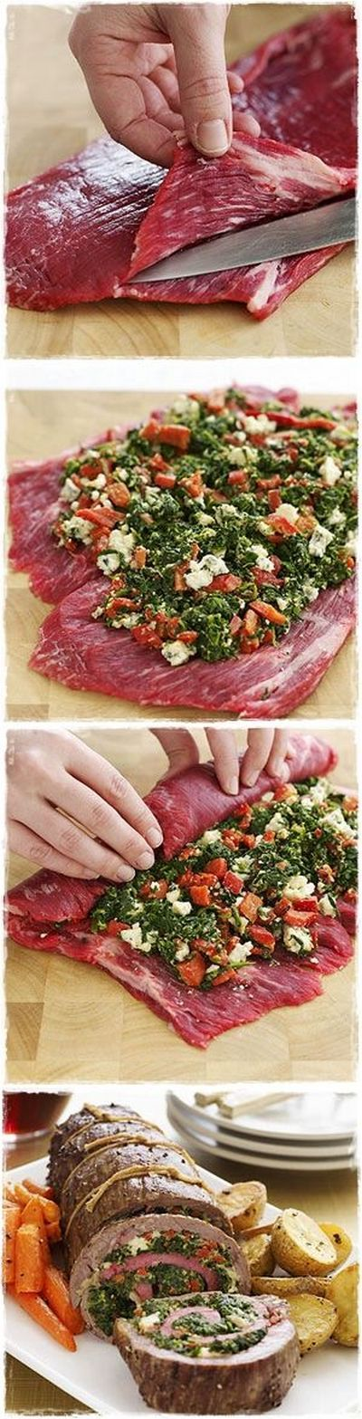 Stuffed Flank Steak | http://Biltong.Ninja