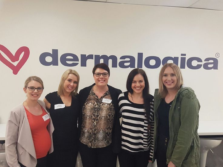 In therapy Team at a Dermalogica training session.