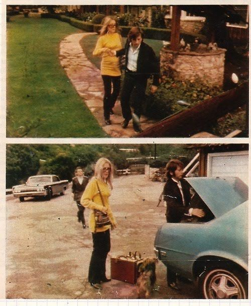 Sharon Tate With Roman Polanski on Cielo Drive