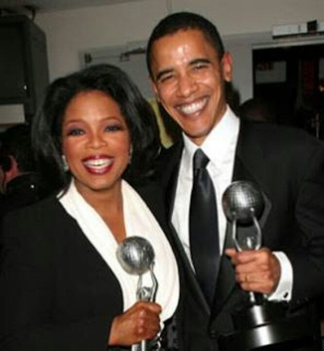 President Barack Obama With The Queen Of Media...  Oprah Winfrey....