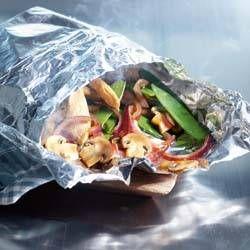 Kip uit de oven met gestoomde groente
