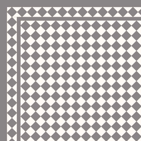 London Mosaic Victorian tile design: Classic 50 - monochrome, traditional victorian, floor tiles black and white chequerboard
