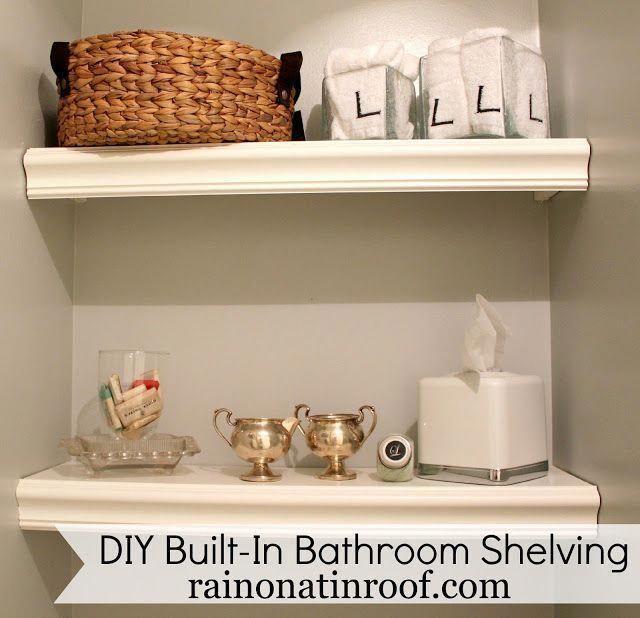 DIY Built-In Bathroom Shelving | Bathroom Ideas | Bathroom Organization | Bathro…   – Bathroom Remodeling diy