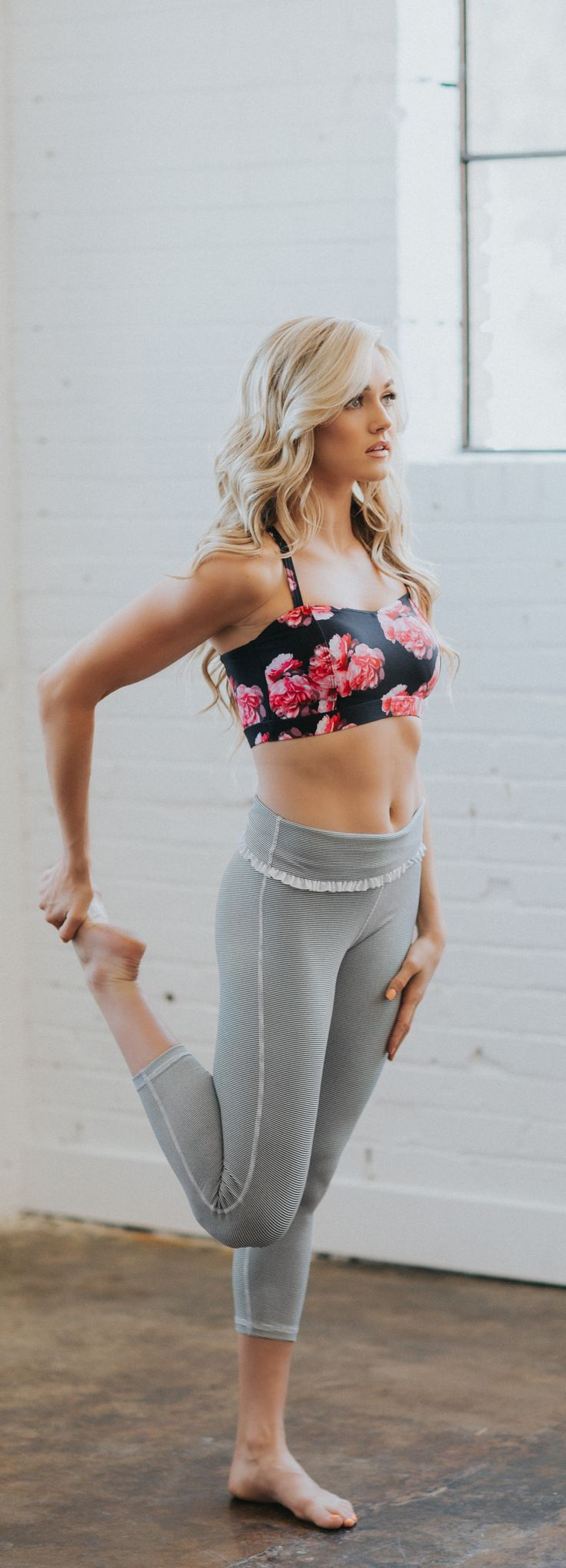 With criss cross straps to peek through your favorite tank, and a longer fit up front to stay in place, this Santiago Print Bra is sure to become your newest go-to support top. No sacrificing comfort