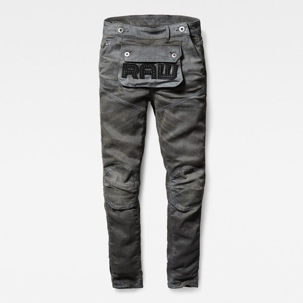 G-Star Raw 5620 3d Pouch High Boyfriend Jeans (€170) ❤ liked on Polyvore featuring jeans, boyfriend jeans, white biker jeans, boyfriend fit jeans, relaxed fit jeans and high-waisted jeans