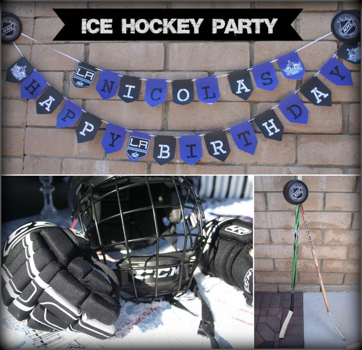 Ice Hockey Party Ideas from SevenClownCircus.com