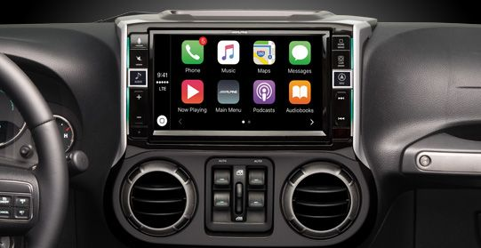 Apple car play for Jeep Wrangler Alpine | Jeep Wrangler Audio: Apple CarPlay Restyle System – i109-WRA Kartunes in Seaside is your Alpne Restyle dealer.