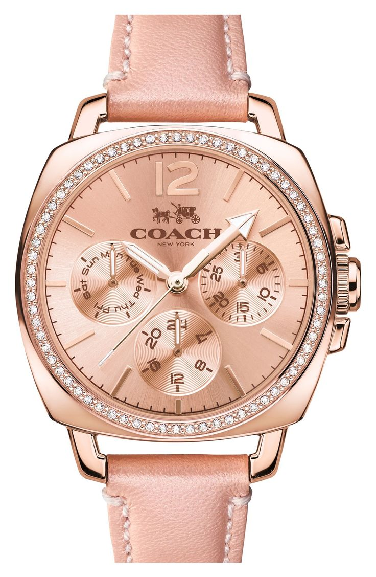 Putting this classy blush and rose gold Coach watch on the wishlist.