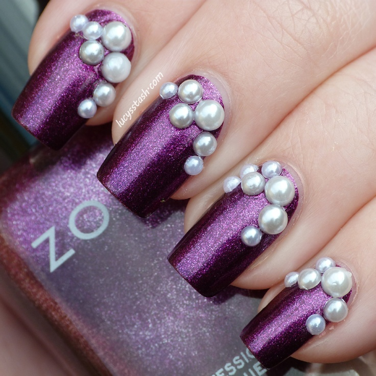 Best 25 pearl nail art ideas on pinterest chrome nail colors lucys stash zoya carly with pearl decorations httplucysstash pearl decorationspearl nail artpurple prinsesfo Images