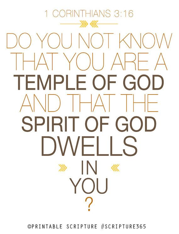 Day 6 #scripture365    Temple of God's Spirit  8x10in  DIY by PrintableScripture on Etsy, $5.00: